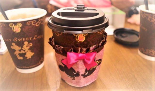 ホットチョコレートドリンク&スリーブ:茶色&ピンク好き女子必見!