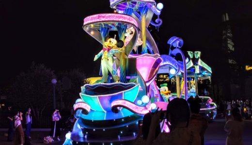 半年ぶりの感動的な風景。ディズニーランドのパレードと花火